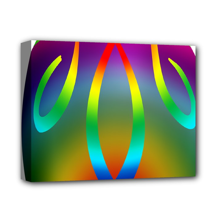 Colorful Easter Egg Deluxe Canvas 14  x 11