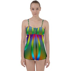 Colorful Easter Egg Babydoll Tankini Set by BangZart
