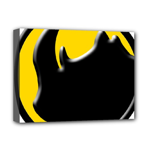 Black Rhino Logo Deluxe Canvas 16  X 12   by BangZart