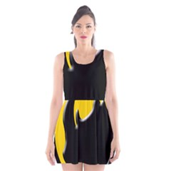 Black Rhino Logo Scoop Neck Skater Dress