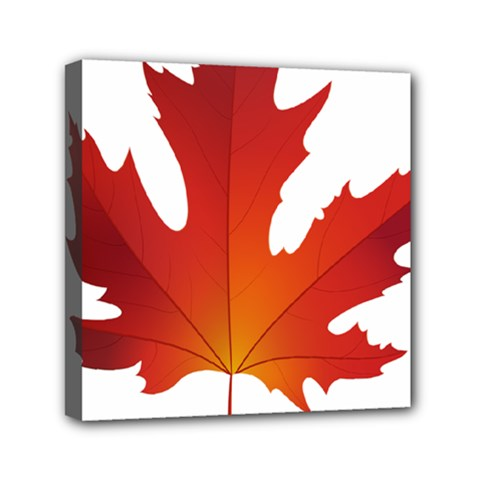 Autumn Maple Leaf Clip Art Mini Canvas 6  X 6  by BangZart