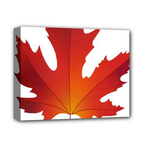 Autumn Maple Leaf Clip Art Deluxe Canvas 14  X 11  by BangZart
