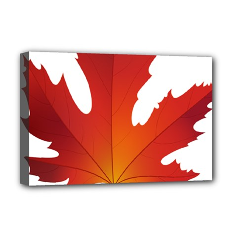 Autumn Maple Leaf Clip Art Deluxe Canvas 18  X 12   by BangZart