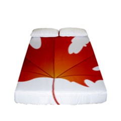 Autumn Maple Leaf Clip Art Fitted Sheet (full/ Double Size)