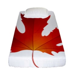 Autumn Maple Leaf Clip Art Fitted Sheet (single Size)