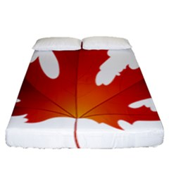 Autumn Maple Leaf Clip Art Fitted Sheet (queen Size) by BangZart