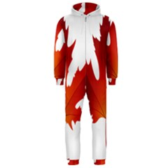 Autumn Maple Leaf Clip Art Hooded Jumpsuit (men)
