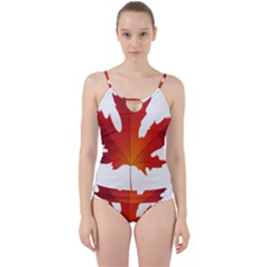 Autumn Maple Leaf Clip Art Cut Out Top Tankini Set by BangZart