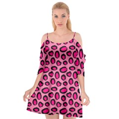 Cute Pink Animal Pattern Background Cutout Spaghetti Strap Chiffon Dress by TastefulDesigns