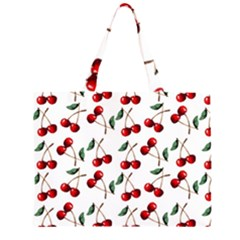 Cherry Red Zipper Large Tote Bag by Kathrinlegg