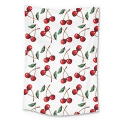 Cherry Red Large Tapestry by Kathrinlegg