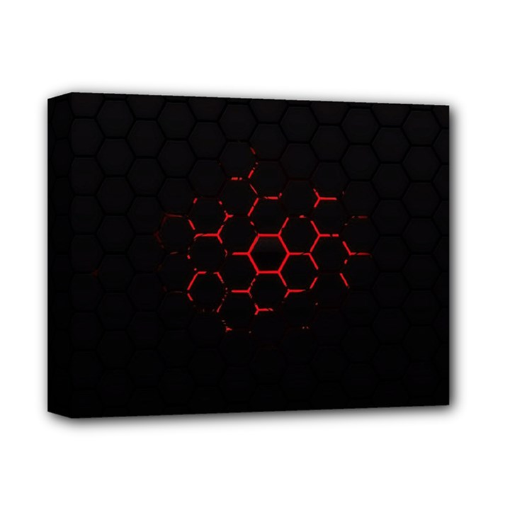 Abstract Pattern Honeycomb Deluxe Canvas 14  x 11
