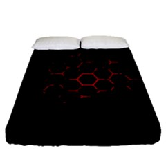 Abstract Pattern Honeycomb Fitted Sheet (queen Size)