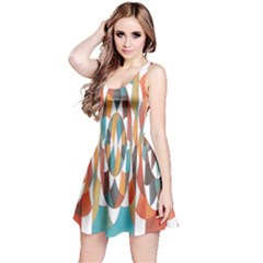 Colorful Geometric Abstract Reversible Sleeveless Dress by linceazul
