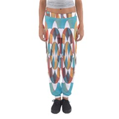 Colorful Geometric Abstract Women s Jogger Sweatpants by linceazul