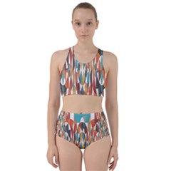 Colorful Geometric Abstract Bikini Swimsuit Spa Swimsuit  by linceazul