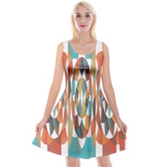Colorful Geometric Abstract Reversible Velvet Sleeveless Dress by linceazul
