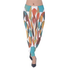 Colorful Geometric Abstract Velvet Leggings by linceazul