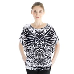 Tattoo Tribal Owl Blouse
