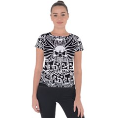 Tattoo Tribal Street Art Short Sleeve Sports Top  by Valentinaart