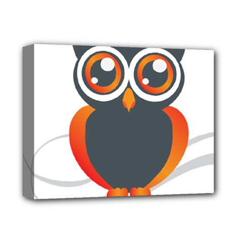 Owl Logo Deluxe Canvas 14  X 11  by BangZart
