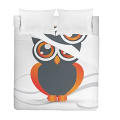 Owl Logo Duvet Cover Double Side (full/ Double Size)