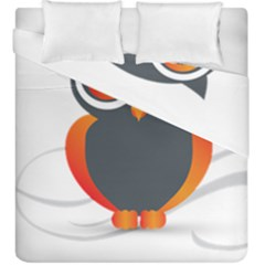 Owl Logo Duvet Cover Double Side (king Size) by BangZart