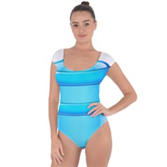Large Water Bottle Short Sleeve Leotard