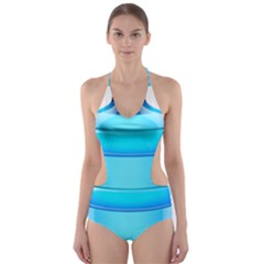 Large Water Bottle Cut Out One Piece Swimsuit