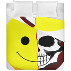 Skull Behind Your Smile Duvet Cover Double Side (california King Size) by BangZart