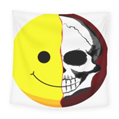 Skull Behind Your Smile Square Tapestry (large) by BangZart
