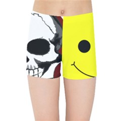 Skull Behind Your Smile Kids Sports Shorts