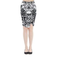 Tattoo Tribal Street Art Midi Wrap Pencil Skirt by Valentinaart