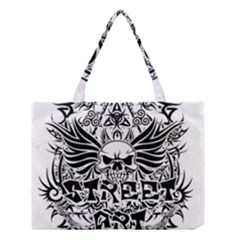 Tattoo Tribal Street Art Medium Tote Bag by Valentinaart