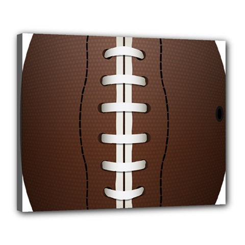 Football Ball Canvas 20  X 16  by BangZart