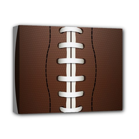 Football Ball Deluxe Canvas 14  X 11  by BangZart