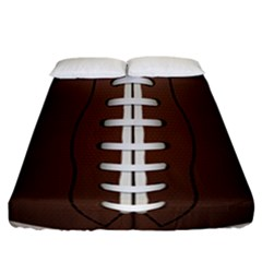 Football Ball Fitted Sheet (california King Size) by BangZart