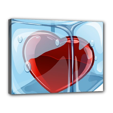 Heart In Ice Cube Canvas 16  X 12  by BangZart