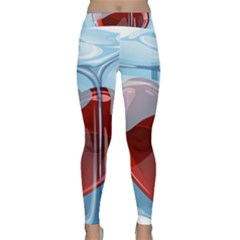 Heart In Ice Cube Classic Yoga Leggings by BangZart