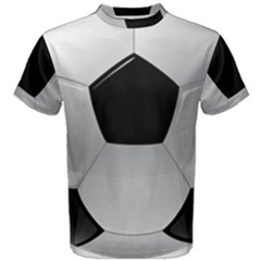 Soccer Ball Men s Cotton Tee by BangZart