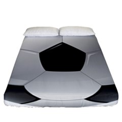 Soccer Ball Fitted Sheet (california King Size) by BangZart