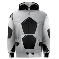 Soccer Ball Men s Zipper Hoodie