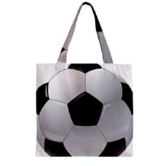 Soccer Ball Zipper Grocery Tote Bag by BangZart
