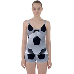 Soccer Ball Tie Front Two Piece Tankini