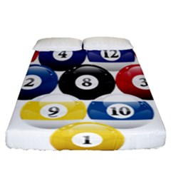 Racked Billiard Pool Balls Fitted Sheet (queen Size) by BangZart