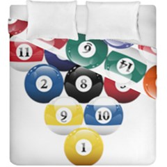 Racked Billiard Pool Balls Duvet Cover Double Side (king Size)