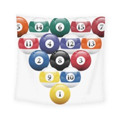 Racked Billiard Pool Balls Square Tapestry (small) by BangZart