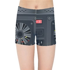 Special Black Power Supply Computer Kids Sports Shorts