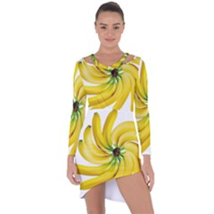 Bananas Decoration Asymmetric Cut Out Shift Dress