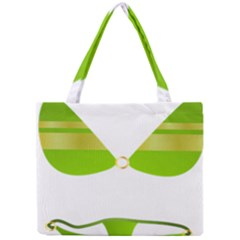Green Swimsuit Mini Tote Bag by BangZart